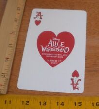 Alice in Wonderland Disney March 5th 2010 Ace of hearts oversized card invite