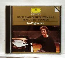 IVO POGORELICH - JS BACH English Suites nos.2 & 3, SCARLATTI 4 sonatas DGG CD NM
