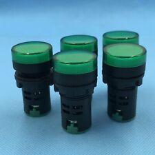 10pcs 110V 22mm Green LED Indicator Pilot Signal Light Lamp