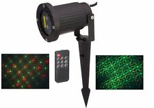 Remote Control 2 in 1 Firefly Moving Laser Christmas and LED Garden Light