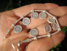 Large 950 to 999 fine silver hill tribe bead bracelet Thailand jewelry art A120