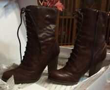 ALDO  Jelly Mid Calf Brown,  Boots BRAND NEW, never worn.  Size 6
