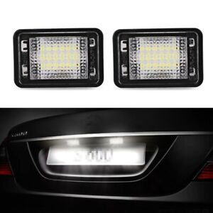 2x License Number Plate Lights White Error Free Lamp for Mercedes Benz GLK X204