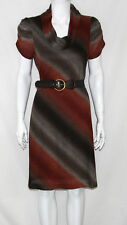 NWT Signature by Robbie Bee Short Sleeve Cowl Neck Belted Knit Dress MEDIUM