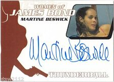 JAMES BOND QUOTABLE WOMEN OF WA23 MARTINE BESWICKE PAULA CAPLAN AUTOGRAPH