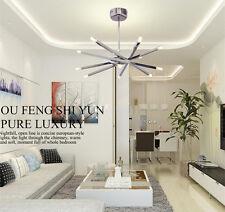 12 Lights Modern Chrome Rod Star Pendant Lamp Ceiling Hanging Fixture Chandelier