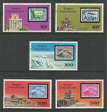 Central Africa # 295-296, C184-186 Used History Of The Zeppelin