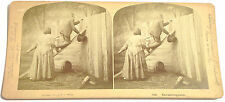 STEREOFOTO STEREOVIEW PHOTO 1875 EAVESDROPPERS FICCANASI - BALTIMORE OTTAWA