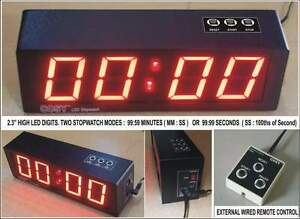 """Digital LED Stopwatch  - 99 Minutes or 99 Seconds  2.3"""" High Digits"""