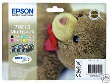 4 CARTOUCHE EPSON T0611+T0612 +T0613 +T0614 = T0615 / T061 t0611 ours ourson no