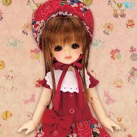 Volks HTDP Nagoya 5 Super Dollfie Chibi Bunka Doll Dress Red YoSD 1/6 BJD