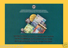 KAZAKHSTAN: SET of 2 TEST notes  20 Years of  Tenge 2013 FOLDER UNC