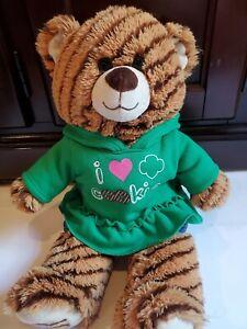 "Build A Bear Girl Scouts Samoa Cookie 15"" Plush Green Shirt Stuffed Animal Toy"