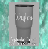 Monogram Personalized Vinyl Decal  Sticker For Tumblers,Ramblers, Cups (Name)