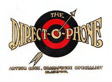 Direct-o-phone  Blackpool====Vintage varnish-fix transfer