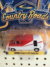 Greenlight Country Roads 1976 Dodge B-100 Street Van. Red & White