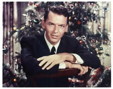 Frank Sinatra Christmas Tree Young at Heart Studio Vintage 8x10 Color Photo
