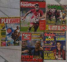 Stock 4 riviste sul calcio + Play games in regalo  di Aa.vv.,  Anni 90'..