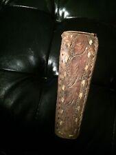 Antique Primitive Stirrup Leather Wood Iron Horse Saddle Foot Hold Mount Cowboy