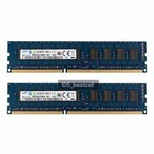Samsung 16GB 2x8GB DDR3 2RX8 1600MHz PC3-12800E 240pin Memoria RAM sin búfer de código error-correcting