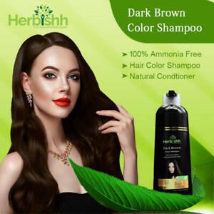 500 ML HERBISHH COLOR SHAMPOO HERBAL HAIR COLOR DYE AMMONIA FREE DARK BROWN