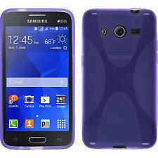 Coque en Silicone Samsung Galaxy Core 2 - X-Style pourpre + films de protection