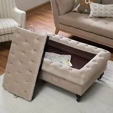 Sandrine Tufted Storage Ottoman with Tray Table
