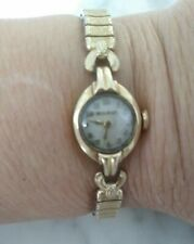 Bulova Ladies Watch with Speidel Band Vintage 14k Solid Yellow Gold Case