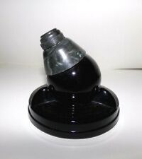 Art Deco Zephyr American Swivodex Black Glass & Bakelite Inkwell, for US NAVY