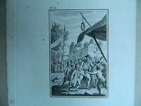 XVIII Antica Incisione Taglia Dolce Iniziali P.G