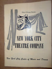 New York City Theatre Programme 1950- SHE STOOPS TO CONQUER by Oliver Goldsmith