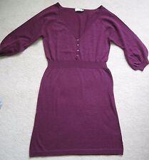 NWOT Ladies Dark Violet Wool Sweater Dress Size M