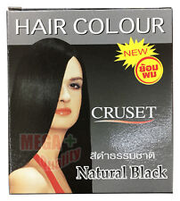 New Cruset Hair Dye Colour Lotion Punk Style Unisex Fashion Natural Black 28ml.
