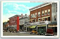 1933 Union Hotel Main Street Everett PA.Vintage Cars  Postcard A14
