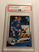 2000 Upper Deck Legends MICHEL GOULET PSA/DNA authenticated Auto  Nordiques MINT