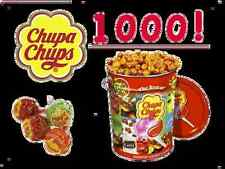 Chupa Chups Tin 1000 x 12g Lollipops Assorted Flavour Fruit Creamy Cola