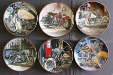 """Scott Jacobs """"Autographed"""" Franklin Mint Harley Davidson Plates All 6 Very Rare"""