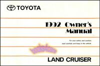 LAND CRUISER 1992 TOYOTA OWNERS MANUAL OWNER'S BOOK HANDBOOK GUIDE