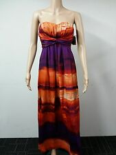 NEW - Jessica Simpson - Size 4 - Strapless Sunset Print Dress - Multicolor $118