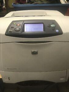 HP Q2426A Laserjet 4200n Laser Printer Workgroup Tested  N Works Great