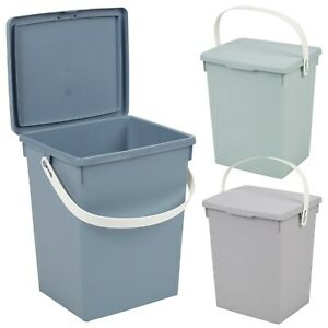 5 Litre Small Table Top Food Recycling Bin Kitchen Worktop Waste Toilet Caddies