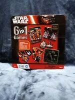Disney Star Wars Force Awakens 6 in 1 Games Collector Tin Bingo Dominoes NEW