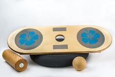GOOD WOOD 3in1 Set Balance Board - Gleichgewicht Stabilität Koordination Motorik