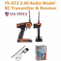 FLYSKY FS-GT2 2.4G Radio Model RC Transmitter & Receiver Remote Contro X4C7