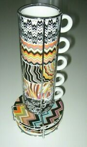 MISSONI For Target 10 Pc Espresso Stacking Cup & Saucers