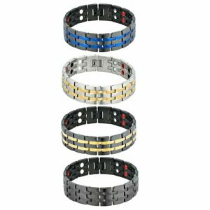 Stainless Steel Magnetic Health Power Therapy Bracelet Chain Link Men's Jewelry