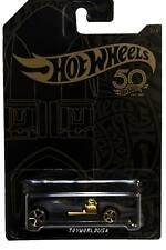 2018 Hot Wheels 50th Anniversary Black and Gold #2 Twin Mill