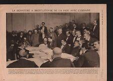 WWI Brest-Litovsk Peace Ukraine Belarus Russia/ Cesar Battisti 1918 ILLUSTRATION