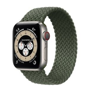 Nylon Braided Solo Loop Strap Band For Apple Watch Series 6 SE 5 4 3 42/40/44 MM