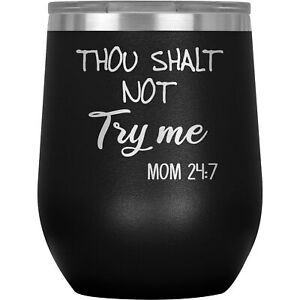 Mom Wine Tumbler Glass Mug Cup Funny Gift For Birthday Present Mothers Day M-47W